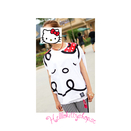 Hello Kitty D-Mop X Batwing T-shirt Vit