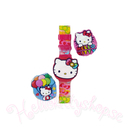 Hello Kitty Klocka LCD Rosetter Color